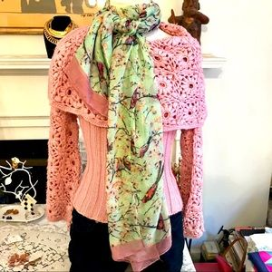 Unbranded viscose multicolor rectangular scarf